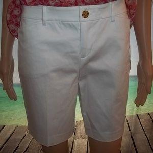 NWT Ralph Lauren Womens'White Dress Shorts-2Petite